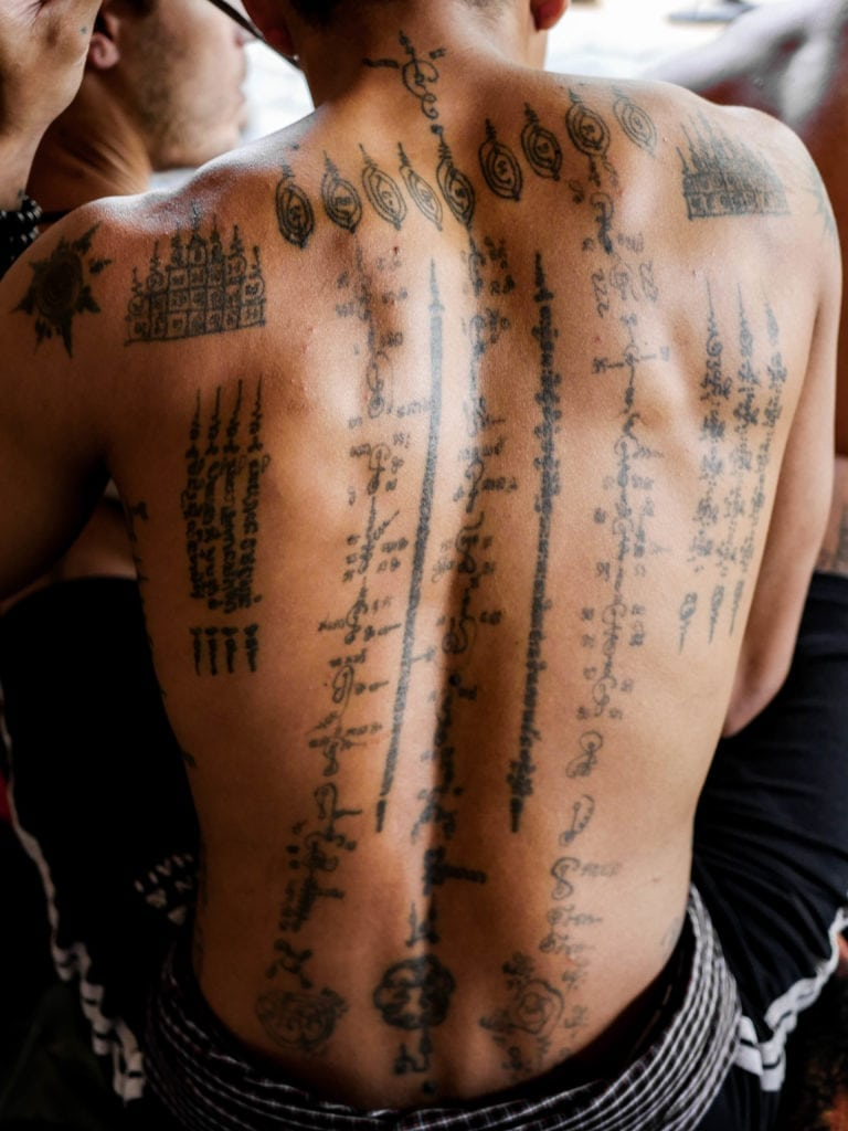 getting sak yant tattoos in cambodia. Black Bedroom Furniture Sets. Home Design Ideas